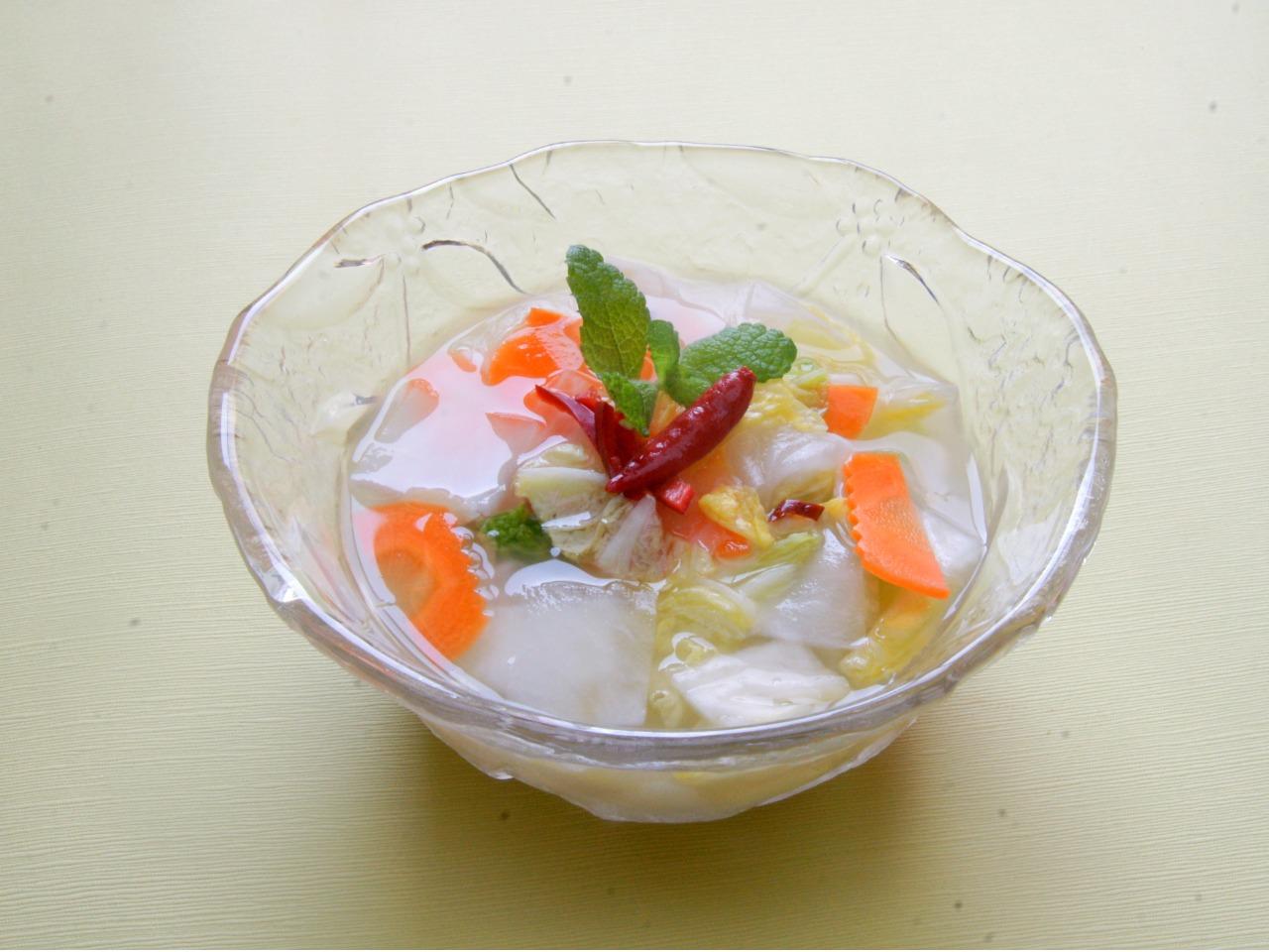 植物乳酸菌3億個! 白菜と大根の水(ムル)キムチ