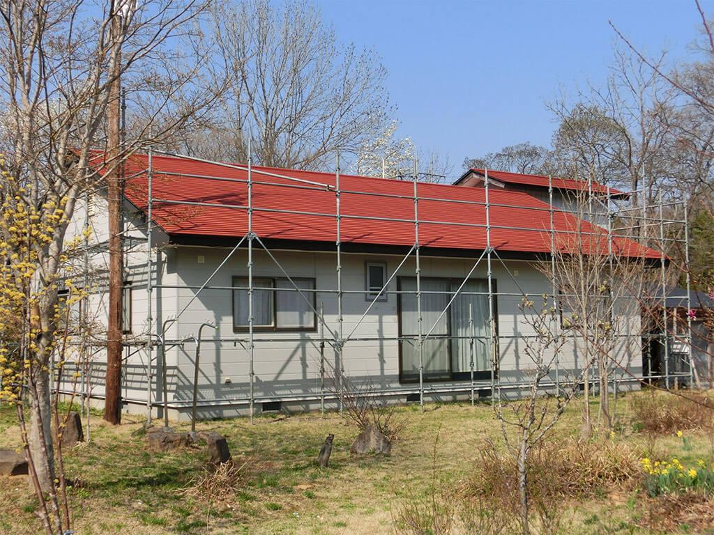 宮城県白石市 別荘 屋根塗装工事