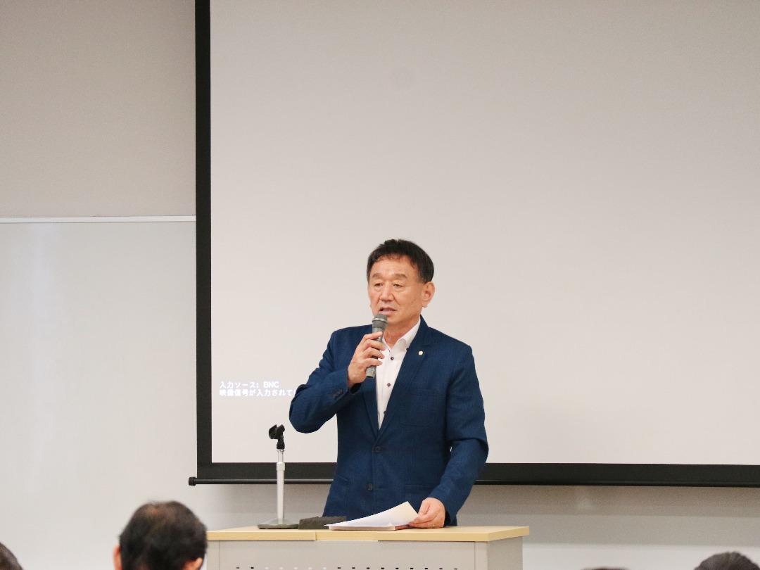 田中理事 焼肉検定説明中